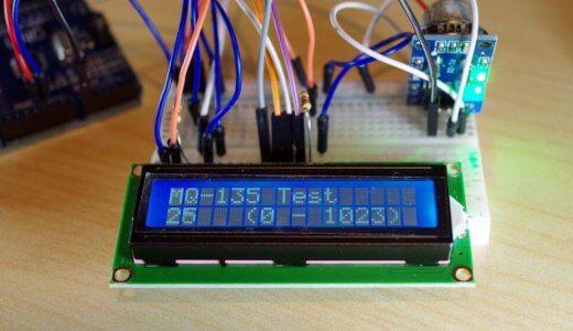 【Arduino】1602A LCDとMQ-135のテスト